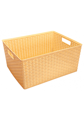 0107 MULTI PURPOSE RATTAN BASKET - 18 LT - 40 X 33 X 19 CM