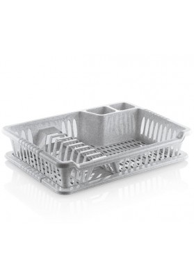 041098 HOBBY SMALL VIOLET DISH DRAINER WITH TRAY