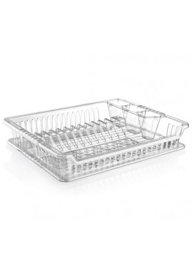 041102 HOBBY CLEAR VIOLET DISH DRAINER WITH TRAY