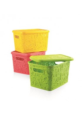041210 HOBBY LACE STORAGE BOX WITH LID - 5.5 LT