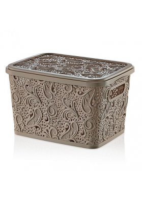 041212 HOBBY LACE STORAGE BOX WITH LID - 17 LT