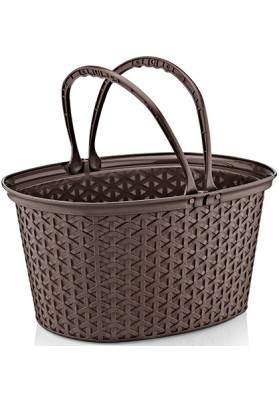 071300 HOBBY RATTAN MULTI PURPOSE BASKET WITH HANDLE - 37 X 30 X 20 CM