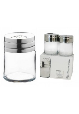 43880 PB 2 PC BASIC SALT & PEPPER SHAKERS IN GIFT BOX - 115 ML