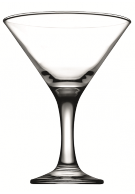44410 PB 6 PC BISTRO MARTINI GLASS IN GIFT BOX - 190 ML