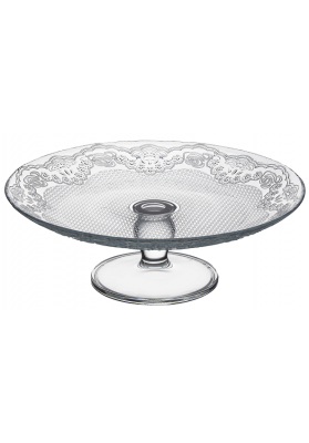 96094 PB LACY FOOTED ROUND SERVER IN GIFT BOX - 16 CM
