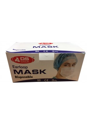 M0203 EARLOOP 3PLY DISPOSABLE MASK
