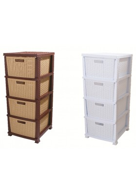 NW6072 RATTAN 4 DRAWER STORAGE UNIT