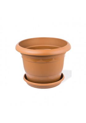 KRS300 ROUND PLANT POT WITH SAUCER NO 0