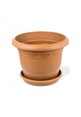KRS301 ROUND PLANT POT WITH SAUCER NO 1