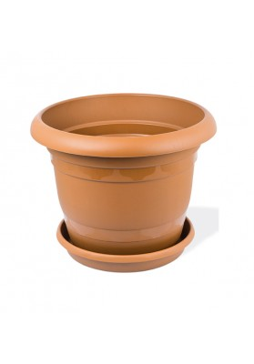 KRS302 ROUND PLANT POT WITH SAUCER NO 2