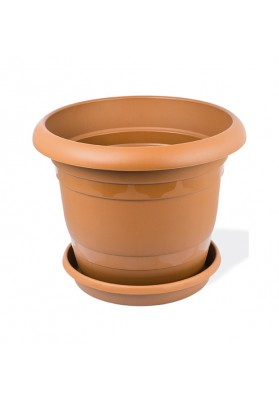 KRS303 ROUND PLANT POT WITH SAUCER NO 3