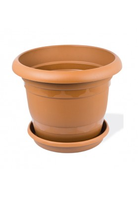 KRS304 ROUND PLANT POT WITH SAUCER NO 4