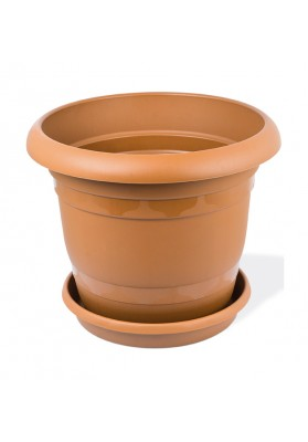KRS305 ROUND PLANT POT WITH SAUCER NO 5